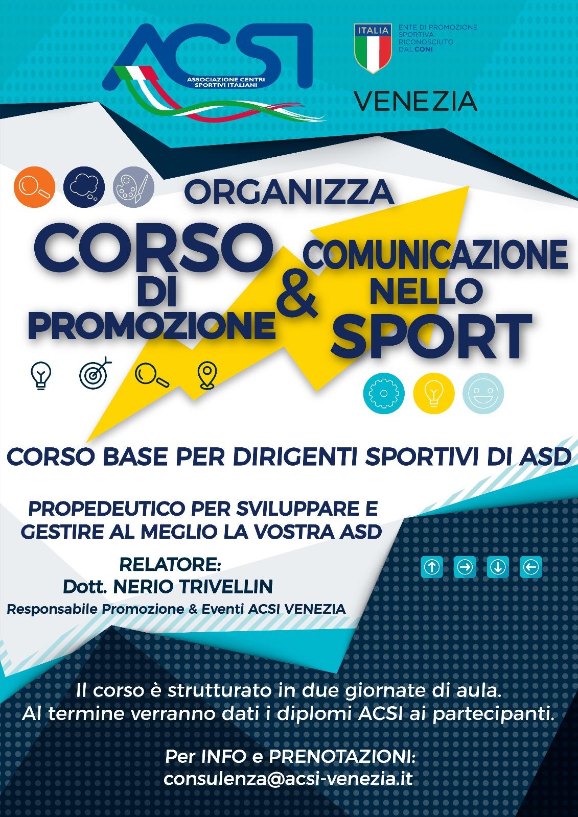 Corso Promozione Comunicazione Sport