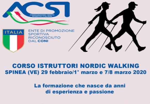 Corso Istruttori Nordic Walking Spinea 2020