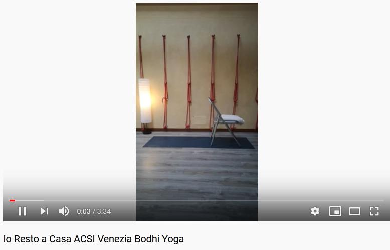 Io Resto a Casa ACSI Venezia Bodhi Yoga – Video