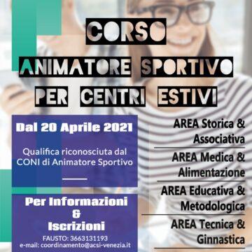 Corso Animatore Sportivo per Centri Estivi 2021